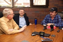 (L-R): Dave Thorell, Adam Smith, and Monday Morning Radio's Dean Rotbart
