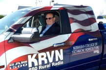 Tim Marshall is behind the wheel of KRVN