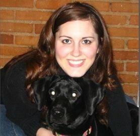 Sarah and her dog, Leila - Four Black Paws